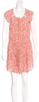 Vanessa Bruno Floral Print Silk Dress