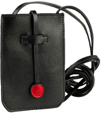 5cb4b15b6a07 at Wolf   Badger · Cambridge Silversmiths Charlie Baker London Leather  Phone Crossbody Bag Black
