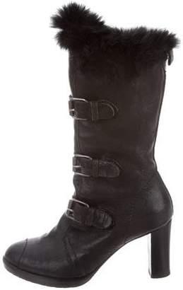 Henry Beguelin Fur-Trim Mid-Calf Boots
