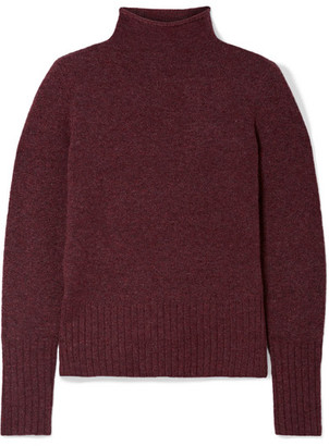 Madewell Inland Knitted Turtleneck Sweater - Burgundy
