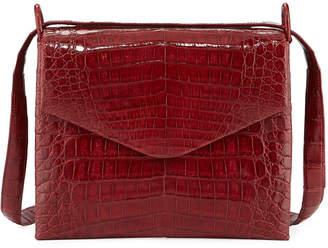 Nancy Gonzalez Astor V-Flap Crocodile Crossbody Bag