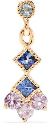 Jennie Kwon Designs - Momentum 14-karat Gold, Aquamarine And Sapphire Earring