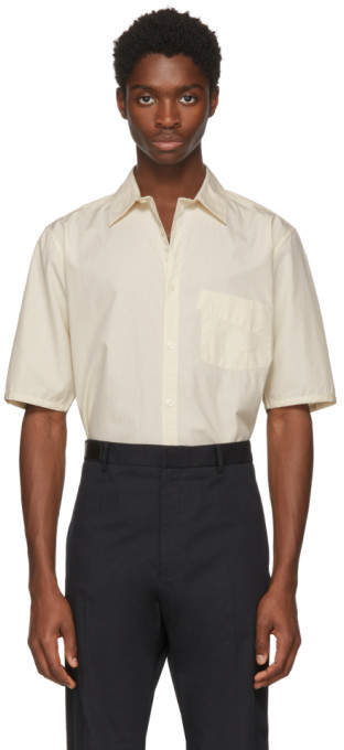 Lhomme Rouge Off-white Twill Shirt
