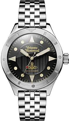 Vivienne Westwood Men's Quartz Watch with Black Dial Analogue Display and Silver Stainless Steel Bracelet VV160BKSL