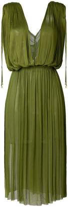 Elena Makri plunge pleated dress