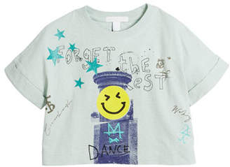 Burberry Lucinda Forget the Rest Graphic Tee, Size 4-14