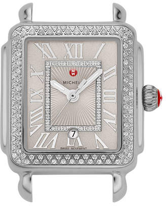 Michele Deco Madison Mid Diamond Watch Head, Silvertone