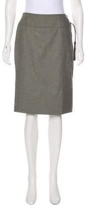 Saint Laurent Woven Knee-Length Skirt