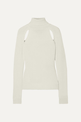 Tom Ford Cutout Cashmere Turtleneck Sweater - Ivory