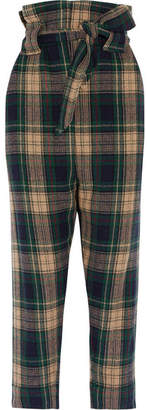 Vivienne Westwood Anglomania - New Kung Fu Tartan Wool-blend Tapered Pants - Forest green