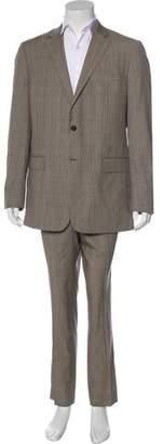 Valentino Wool Glen Plaid Suit