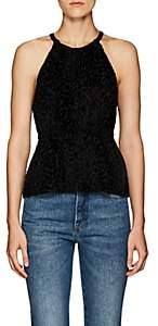 A.L.C. Women's Rosario Leopard-Pattern Velvet Top - Black