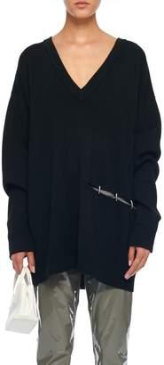 Tibi Mockrib V-Neck Tunic Sweater