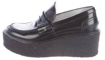 Céline Leather Platform Loafers