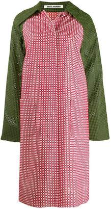 ANAÏS JOURDEN colour block mesh style coat