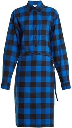 Vetements Tie-waist checked cotton-flannel shirtdress