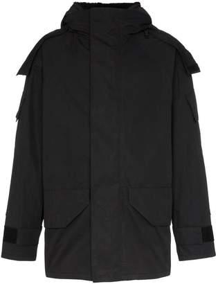 Yves Salomon Bachette shearling lined hooded coat