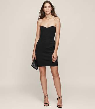 Reiss Miranda - Strapless Bodycon Dress in Black