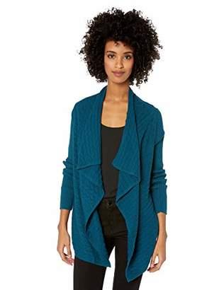 Chaus Women's Long Sleeve Novelty Stitch Cardigan