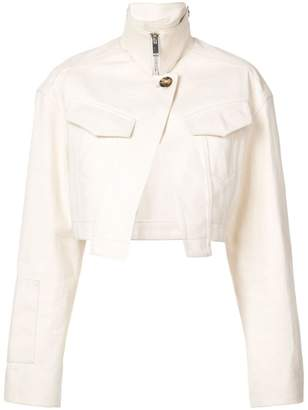 Proenza Schouler Canvas Denim Cropped Jacket