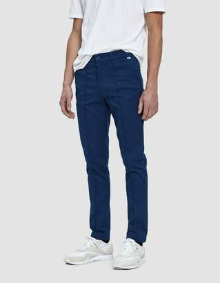 Dickies Construct Straight Slim Pintuck Chino Pant in OG Air Force Blue