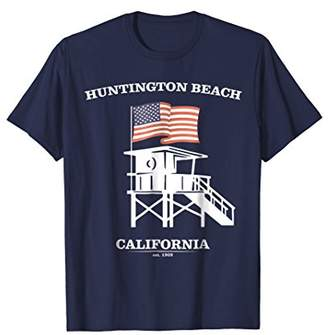 Huntington Beach Shirt Retro HB California Beach Patriot Tee