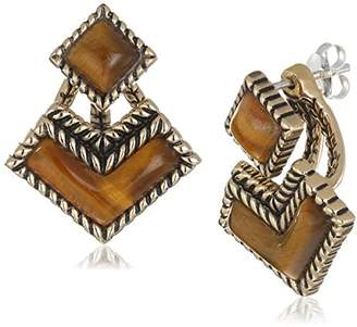 Barse Bronze and Tiger's Eye Post Earring Jackets