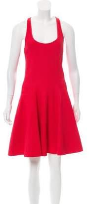 Emporio Armani Textured Knee-Length Dress w/ Tags