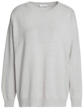 Brunello Cucinelli Bead-Embellished Wool Cashmere And Silk-Blend Sweater