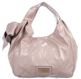 Valentino Nuage Bow Patent Leather Handle Bag