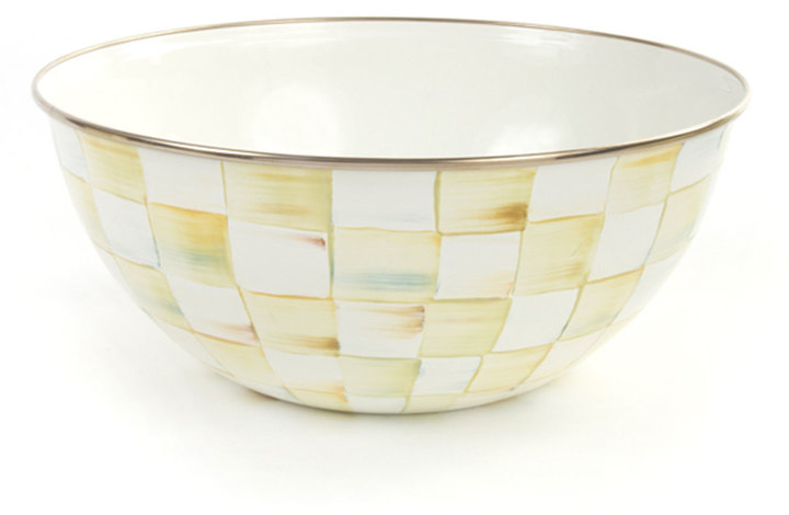 Mackenzie Childs MacKenzie-Childs 16-Cup Parchment Check Everyday Bowl