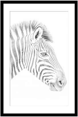 Casa Uno Zebra Framed Print, 60x90cm