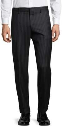 Dries Van Noten Pinstripe Wool Dress Pants