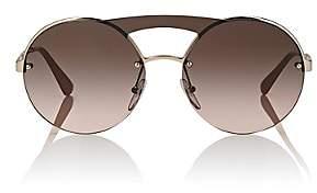 Prada Women's Round Sunglasses-Gold