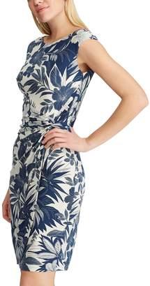 Chaps Women's Tropical Floral Sheath Dress