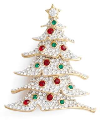 Nadri Jolly Christmas Tree Pin