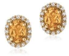 LeVian Le Vian Diamond & 14K Yellow Gold Earrings
