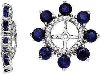 FINE JEWELRY Lab-Created Sapphire and Diamond Accent Earring Jackets