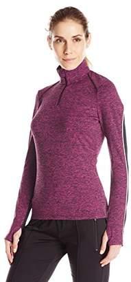 Lark & Ro Women's Active Long Sleeve Quarter-Zip Top
