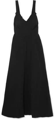 Joseph Greer Open-back Crinkled-crepe Midi Dress - Black