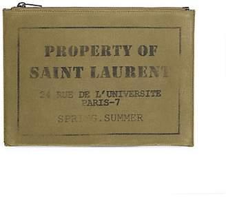 Saint Laurent Rider Cotton iPad Case