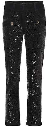 Balmain Sequinned jeans