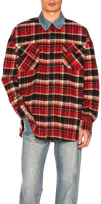 Fear Of God Denim Collared Oversized Polo