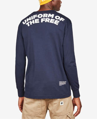 G Star Men's Long-Sleeve Uniform of the Free Pocket T-Shirt