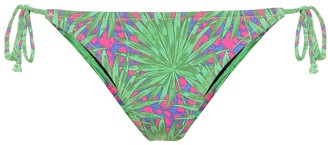 Reina Olga Love Triangle printed bikini bottoms