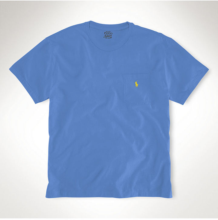 Polo ralph lauren big and tall t shirt pocket t shirt for Big and tall polo shirts with pockets