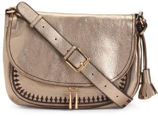 Leather Abaco Messenger Crossbody