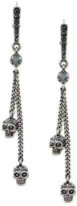 Alexander McQueen embellished skull clip-on earrings