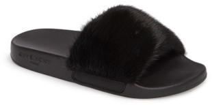 Women's Givenchy Genuine Mink Fur Slide Sandal