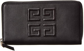 Givenchy 4G Long Leather Zip-Around Wallet